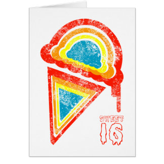 sweet sixteen ice cream dripz card