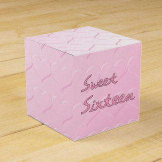 Sweet Sixteen in Pink Party Favor Box