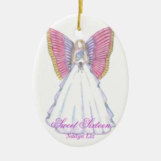 Sweet Sixteen Keepsake-Customize Ceramic Oval Ornament