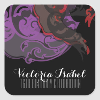 sweet sixteen MARDI GRAS BIRTHDAY keepsake label Stickers