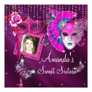 Sweet Sixteen, Masquerade Ball Birthday Invitation