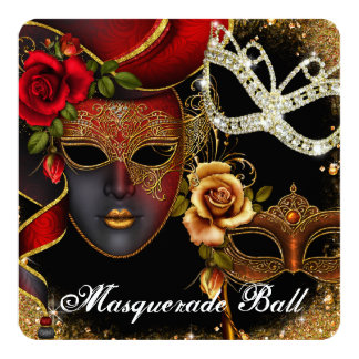 Sweet Sixteen Masquerade Ball Invitation