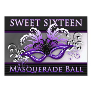 Sweet Sixteen Masquerade Ball Invitations