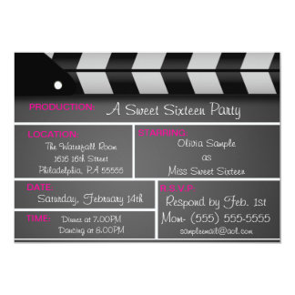 Sweet Sixteen Movie Invitation