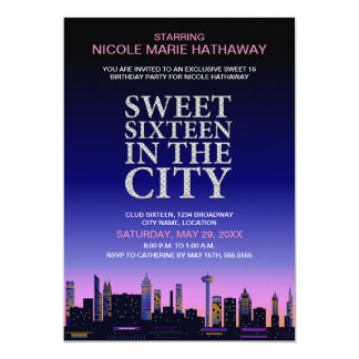 Sweet Sixteen Movie Poster Party Invitation