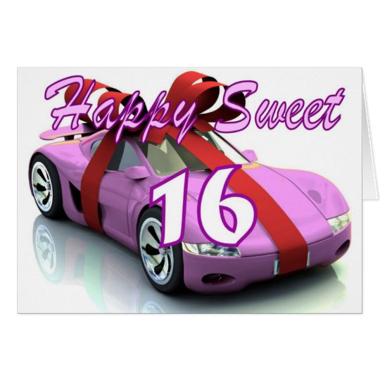 Sweet sixteen new car birthday card