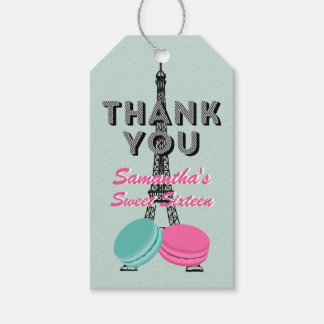 Sweet Sixteen Paris Birthday Thank You Gift Tag