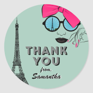Sweet Sixteen Paris Birthday Thank You Sticker