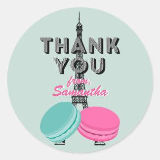 Sweet Sixteen Paris Thank You Birthday Sticker