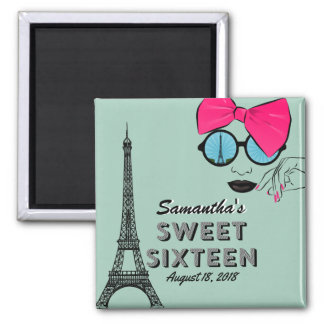 Sweet Sixteen Paris Theme Birthday Magnet