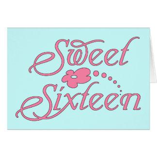 Sweet Sixteen - Pink Card