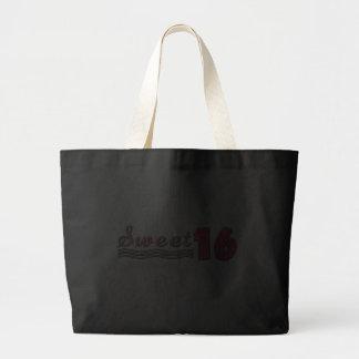 Sweet Sixteen (Pink- customizable) Tote Bags