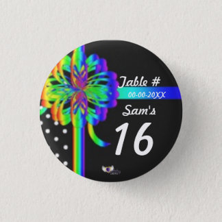 Sweet Sixteen Place Celebration's Button_Cust. 1 Inch Round Button