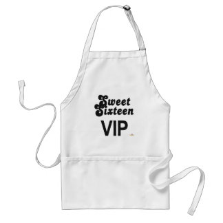 Sweet Sixteen VIP Black And Silver Aprons