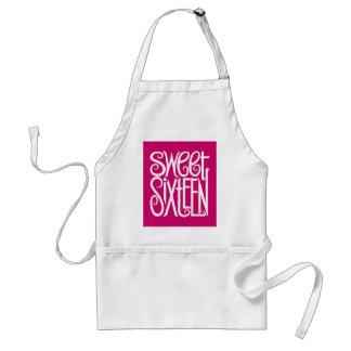 Sweet Sixteen white Apron