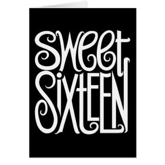 Sweet Sixteen white Card