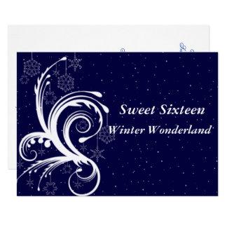 Sweet Sixteen, Winter Wonderland, Invitation