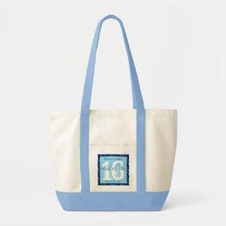 Sweet Sixteen Zebra Birthday Celebration Gift V07C Impulse Tote Bag