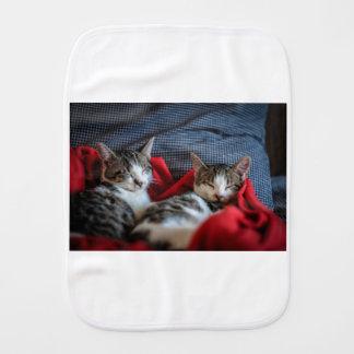 Sweet Sleeping Kitties Burp Cloth