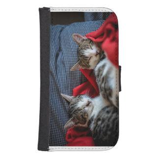 Sweet Sleeping Kitties Samsung S4 Wallet Case