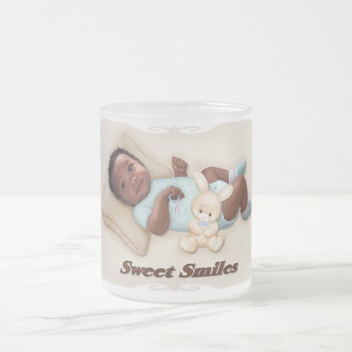 Sweet Smiles 10 Oz Frosted Glass Coffee Mug