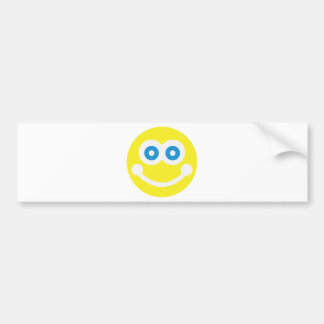 Sweet smiley bumper sticker