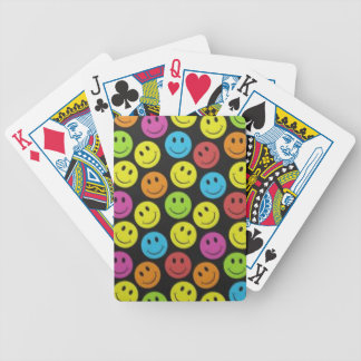 Sweet Smiley Face Bicycle Playing Cards