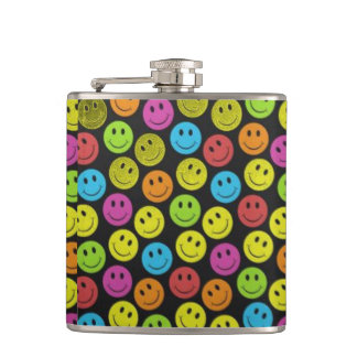 Sweet Smiley Face Hip Flask