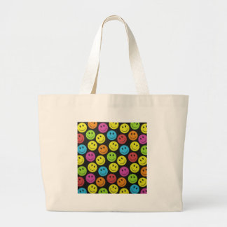 Sweet Smiley Face Large Tote Bag
