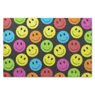 Sweet Smiley Face Tissue Paper