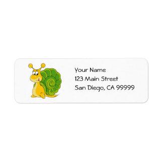 Sweet Smiling Snail Return Address Label