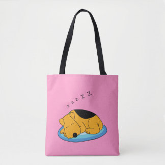 Sweet Snoring Airedale Terrier Dog Cross Body Bag