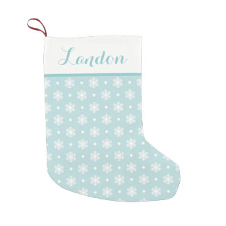 Sweet Snowflakes Personalized Stocking / Blue