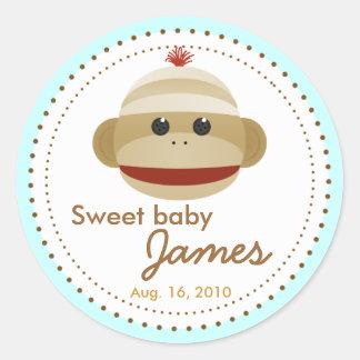 Sweet Sock Monkey Stickers