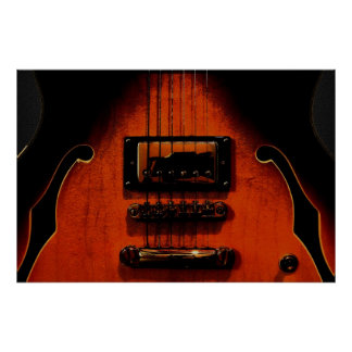 Sweet Soul Blues Guitar 36 x 24 Poster