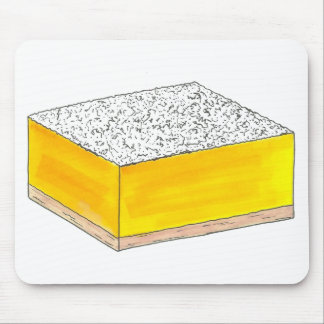 Sweet & Sour Yellow Lemon Bar Square Pastry Baking Mouse Pad