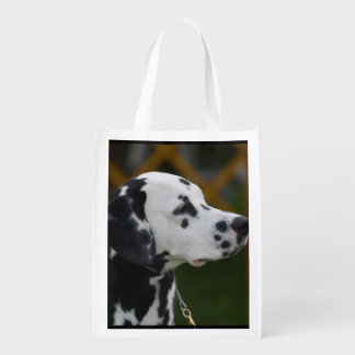 Sweet Spotted Dalmatian Reusable Grocery Bag