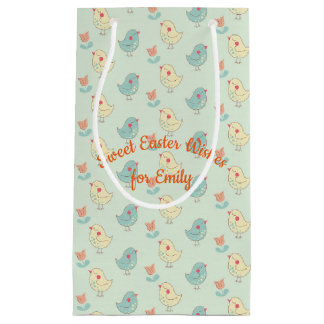 Sweet Spring Birdies Gift Bag - Small, Glossy