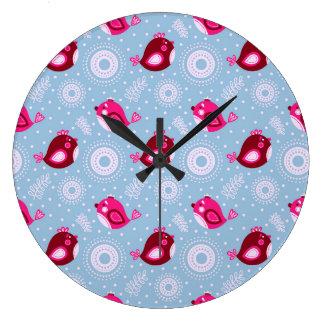Sweet Spring Birds Clocks