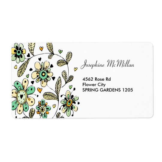 Sweet Spring Flowers Address Labels