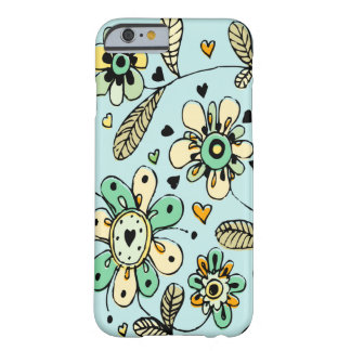 Sweet Spring Flowers Blue iPhone 6 Case