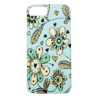 Sweet Spring Flowers Blue iPhone 7 Case