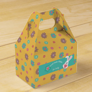 Sweet Spring Flowers Gable Favour Box