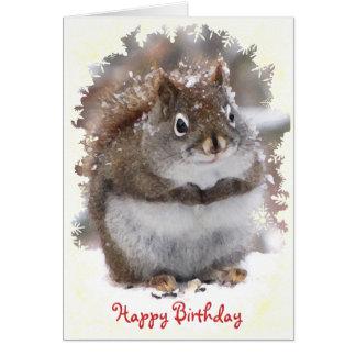 Sweet Squirrel Birthday Card