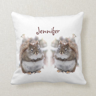 Sweet Squirrels Throw Pillow