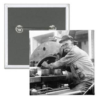 Sweet Stache 1917 Pinback Buttons
