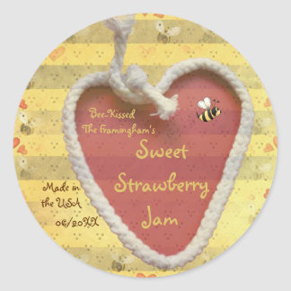 Sweet Strawberry Jam Jar Label (Customize)
