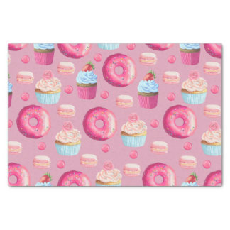 Sweet Strawberry Pink Treats Tissue Paper