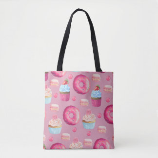 Sweet Strawberry Pink Treats Tote Bag