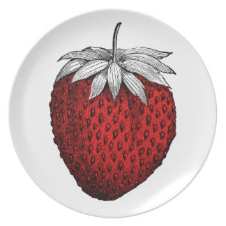 Sweet Strawberry Plate